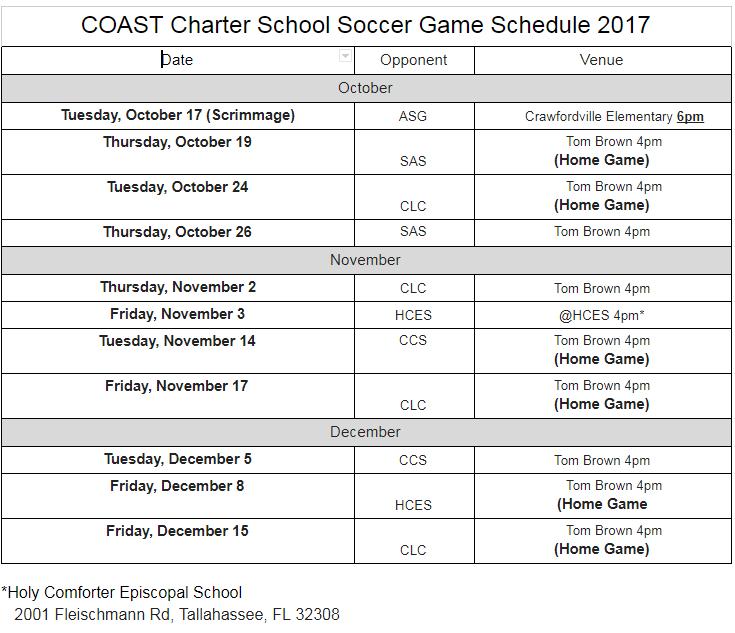 COAST Charter School Soccer Game 2017   Google Docs
